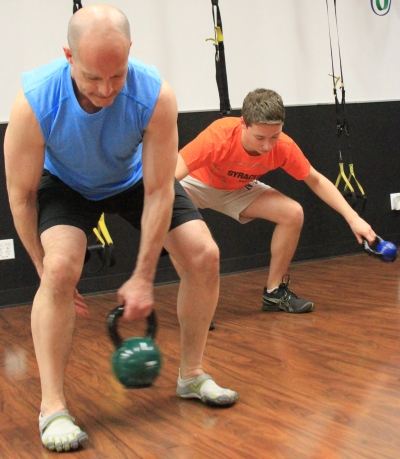 Kettlebell Figure 8 exercise