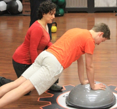 Plank exercise with the BOSU ball